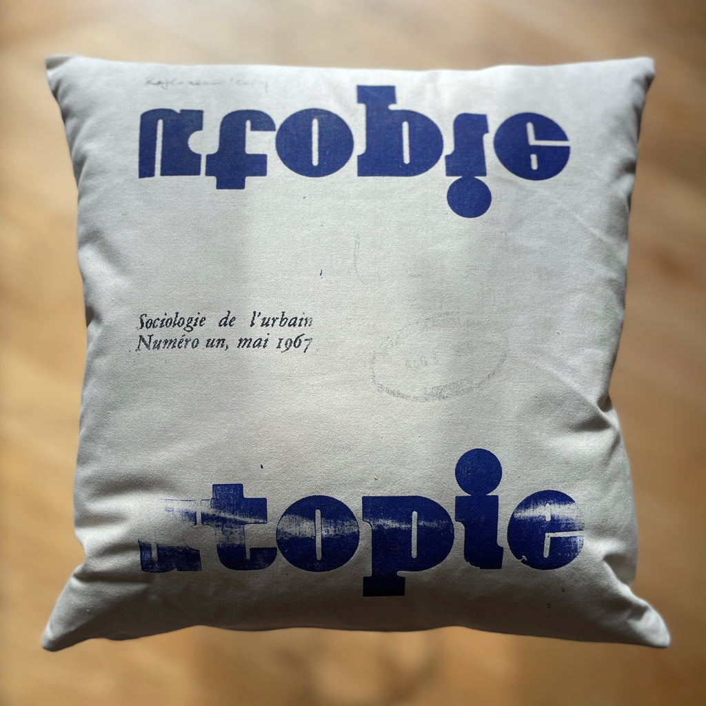 UTOPIA 'throw' pillow.