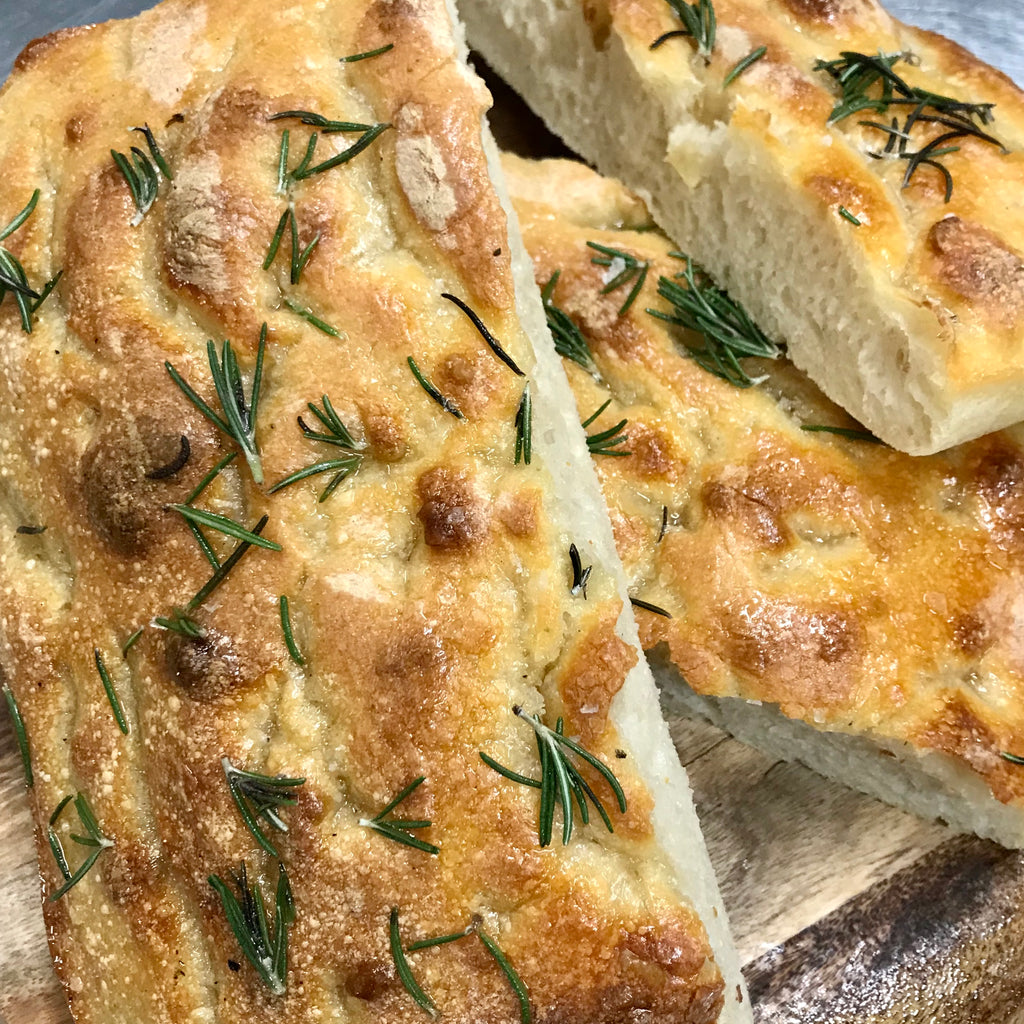 Focaccia with Garlic & Rosemary