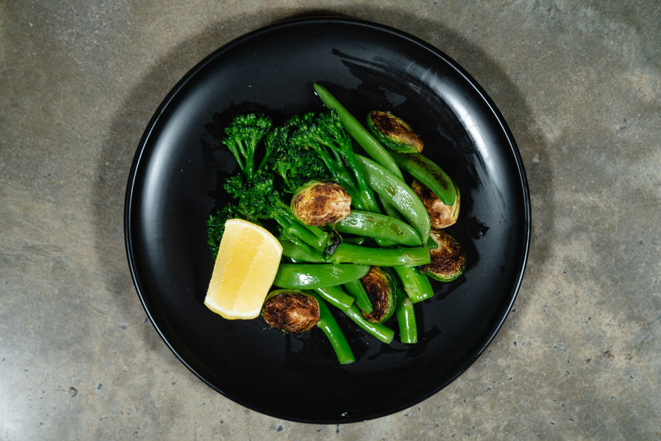 Steamed mixed green vegetables