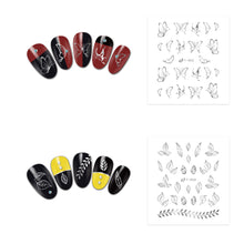 Load image into Gallery viewer, 30 Sheets Golden Nail Art Stickers