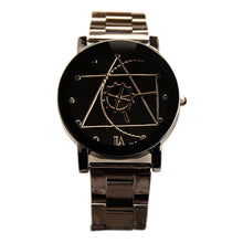 Load image into Gallery viewer, Stainless Steel Geometry Round Quartz Analog Wrist Watch