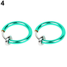Load image into Gallery viewer, 2 Pcs Fake Clip on Spring Multi-Use Ring Earring Non Piercing