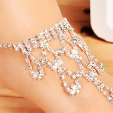Load image into Gallery viewer, Fashion Women Rhinestone Barefoot Sandal Beach Wedding Party Foot Anklet