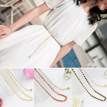 Load image into Gallery viewer, Women Faux Pearl Bead Tie Waistband