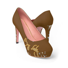 Load image into Gallery viewer, Boss Lady Chocolate Platform Heels