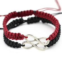 Load image into Gallery viewer, 2Pcs/Set Handmade Infinity Charm Braided Bracelet