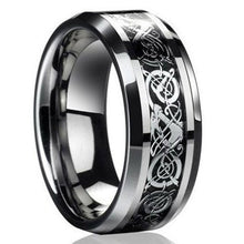 Load image into Gallery viewer, Celtic Dragon Carving Titanium Steel Ring