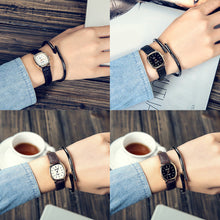 Load image into Gallery viewer, Vintage Square Thin Faux Leather Band Wrist Watch