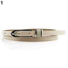Load image into Gallery viewer, Fashion Lady Women Faux Leather Thin Skinny Buckle Belt Waistband