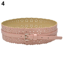 Load image into Gallery viewer, Women's Fashion Leather Hollow Flower Waist Belt