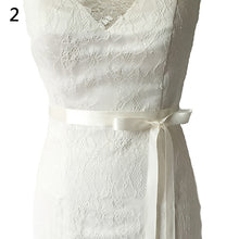 Load image into Gallery viewer, Rhinestone Bridal Sash Waist Belt with Satin Ribbon