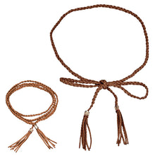 Load image into Gallery viewer, Bohemia Faux Leather Tassel Fashion Ladies Braided Belt