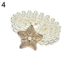 Load image into Gallery viewer, Fashion Women Rhinestone Faux Pearl Thin Waistband