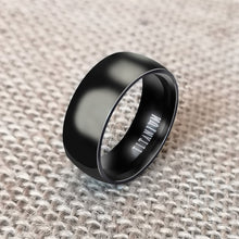 Load image into Gallery viewer, 8mm Punk Titanium Steel Plain Wide Band Ring