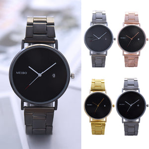 Fashion No Numbers Calendar Quartz Office Wrist Watch