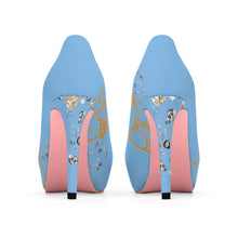Load image into Gallery viewer, Boss Lady Powder Blue Platform Heels