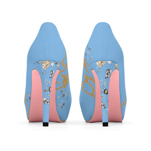 Boss Lady Powder Blue Platform Heels