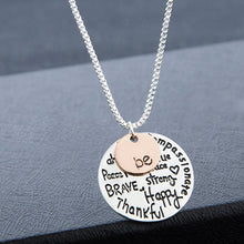 "Load image into Gallery viewer, Two-Tone ""Be"" Graffiti Charm Pendant Necklace"
