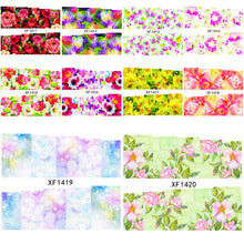 Load image into Gallery viewer, Elegant Flower Water Transfer Decals
