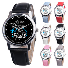 Load image into Gallery viewer, Faux Leather Band Casual Round Quartz Wrist Watch