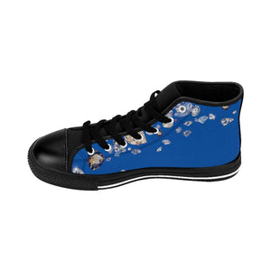 Boss Lady Women's Blue High-top Sneakers