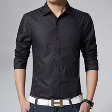 Load image into Gallery viewer, Men's Long Sleeve Slim Fit Shirt
