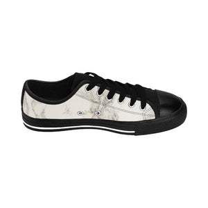 King Series Men's Black on Marble Sneakers