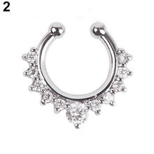 Load image into Gallery viewer, 1 Pc U-shape Non Piercing Fake Clip On Septum Clicker