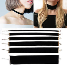 Load image into Gallery viewer, Black Velvet Choker