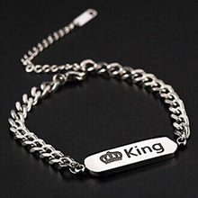 Load image into Gallery viewer, King Queen Couple Bangle Bracelet