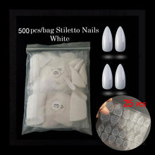 Load image into Gallery viewer, 500pcs/opp Ballerina Nail Art Tips Press on Long Coffin Shape Professional False Nails