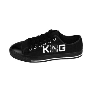 King Series Men's White on Black Sneakers