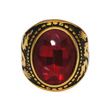 Load image into Gallery viewer, Vintage Dragon Oval Zircon Ring