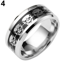 Load image into Gallery viewer, Skeleton Skull Head Print Stainless Steel Ring