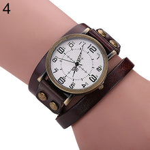Load image into Gallery viewer, Retro Style Multi-Layers Leather Strap Bangle Wrap Wrist Watch
