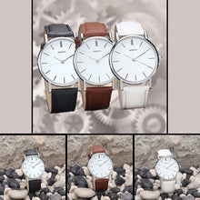 Load image into Gallery viewer, Geneva Faux Leather Analog Casual Quartz Wrist Watch