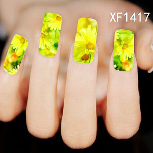 Elegant Flower Water Transfer Decals