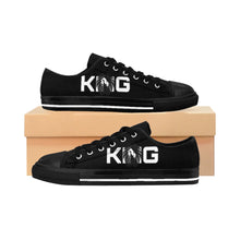 Load image into Gallery viewer, King Series Men's White on Black Sneakers