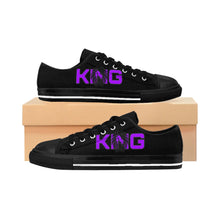 Load image into Gallery viewer, King Series Men's Purple on Black Sneakers