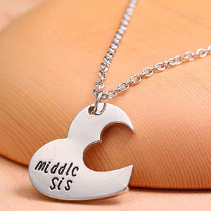 Broken Heart Sisters Matching Love Necklace