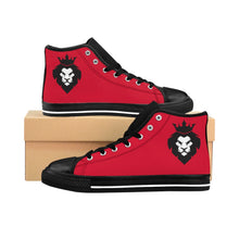Load image into Gallery viewer, King Series Men's Red High-top Sneakers