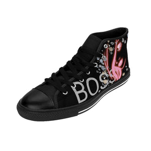 Boss Lady Women's Black High-top Sneakers
