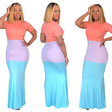 Load image into Gallery viewer, Women Color Block Maxi Dresses