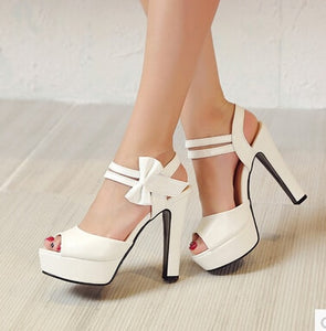Sexy Bow Platform Shoes