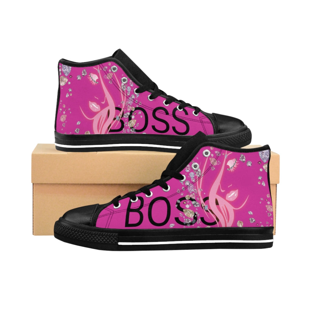 Boss Lady Women's Pink High-top Sneakers