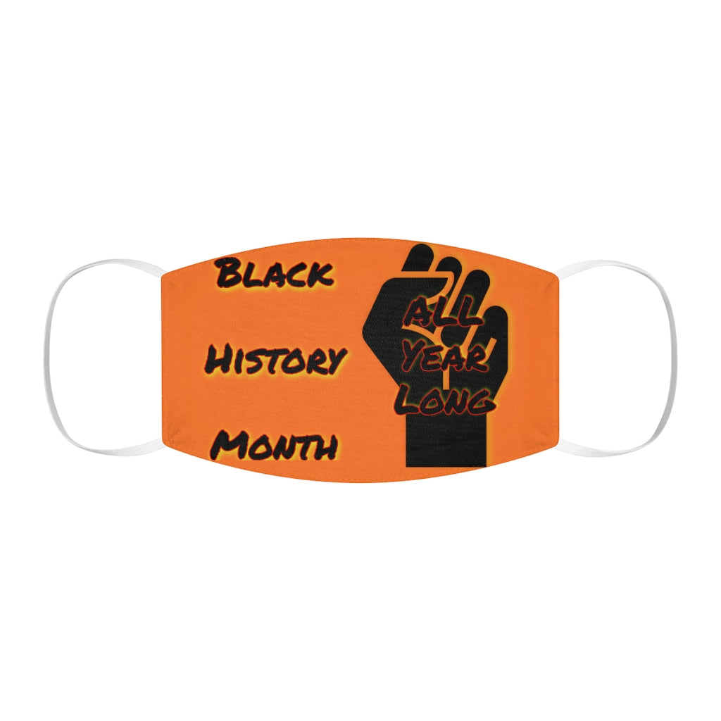 Black History Month Series Orange Face Mask