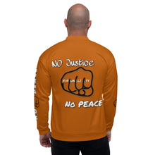 Load image into Gallery viewer, BLM Series - No Justice No Peace Marble Caramel Jacket