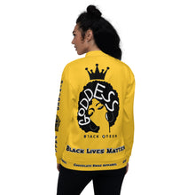 Load image into Gallery viewer, Black Lives Matter Series For Queens Yellow Bomber Jacket