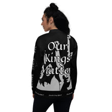 Load image into Gallery viewer, BLM Series- We Stand By Our Kings Black Bomber Jacket