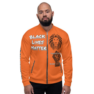 Black Lives Matter Series Orange Bomber Jacker